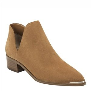 Marc Fisher New Brown Suede Bootie